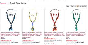 Organic Tagua Jewelry