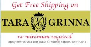 Get Free Shipping on Tara Grinna