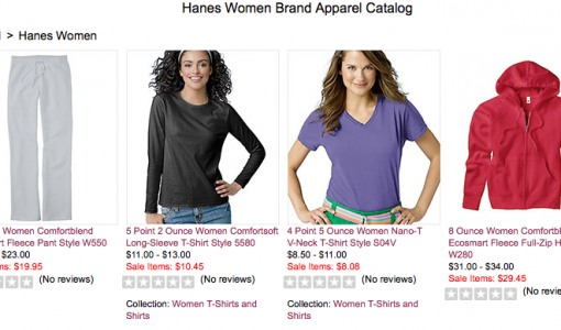 Hanes Women Apparel On Sale at Big Girls Bras
