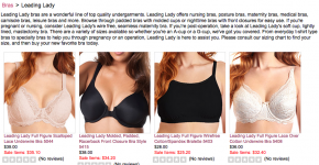 Leading Lady Bras