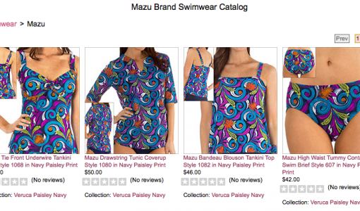 Mazu swimwear at Big Girls Bras