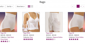 Rago Shapewear at Big Girls Bras
