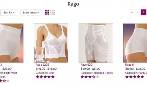 Rago Shapewear at Big Girls Bras